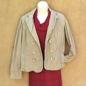 Levi's tan khaki corduroy blazer jacket L